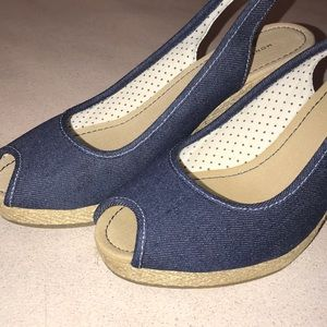 Montego Bay Club Wedge Heel Peep Toe